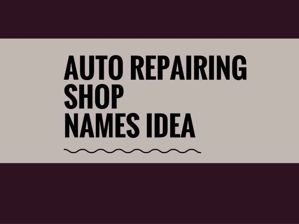 Catchy Auto Repairing Shop Names With Logos - Car sign with namesideas name of car on wwwpeculiarpurlscom