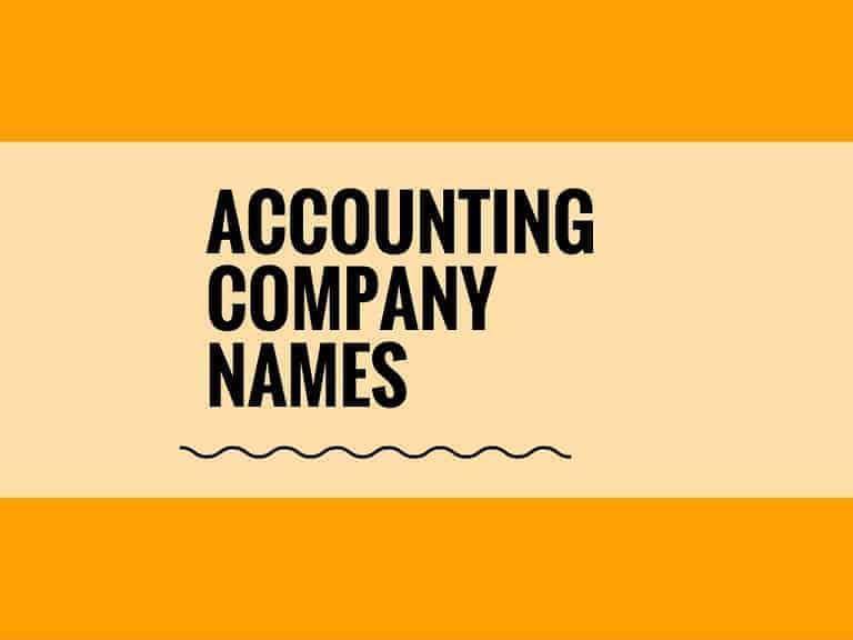 64 Best Accounting Cpany Names Ideas   Entrepreneur blog