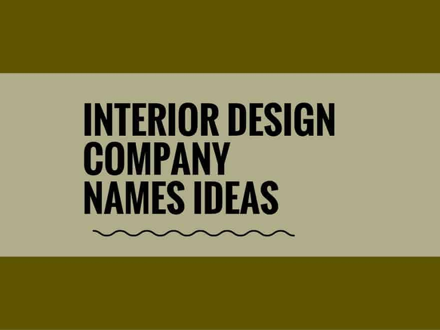 Good interior design company names ideas modern best for Italian interior design company names