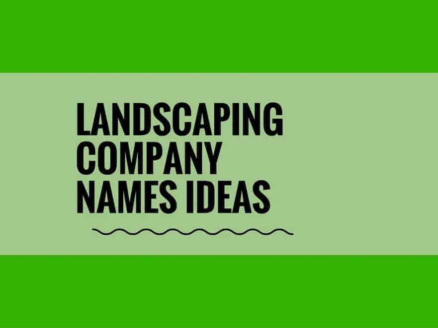 Good landscaping names outdoor goods for Landscaping company names