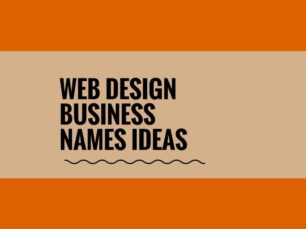 72 Best Web design business names [Updated]